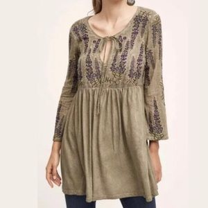 Anthropologie Meadow Rue Roma Boho Tunic